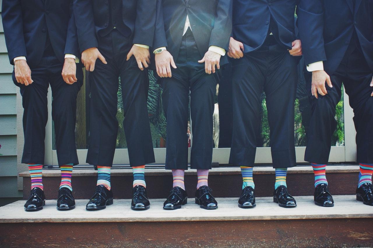 chlapi vianoce ponožky